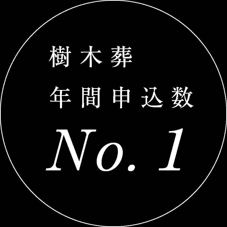 樹木葬年間申し込み数No.1