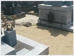 暮石の撤去処分の画像